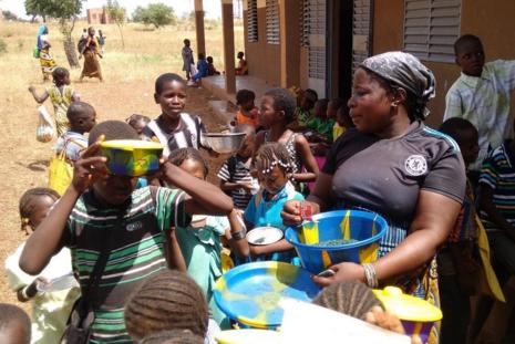 spiruline à l'école au Burkina faso